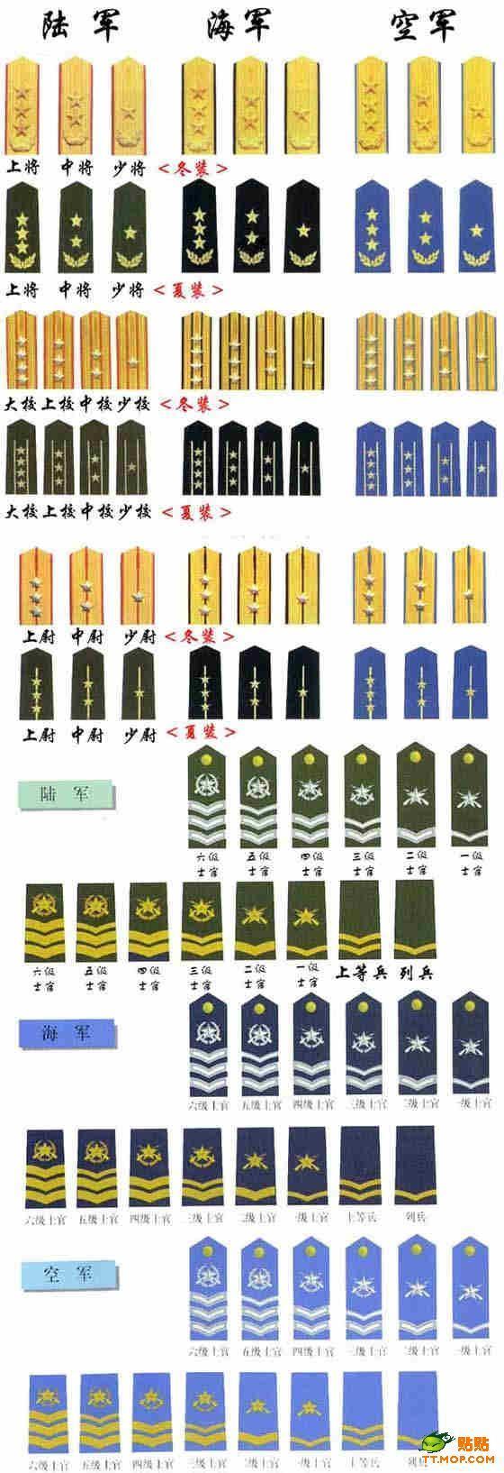 二战美军军衔 搞笑图片