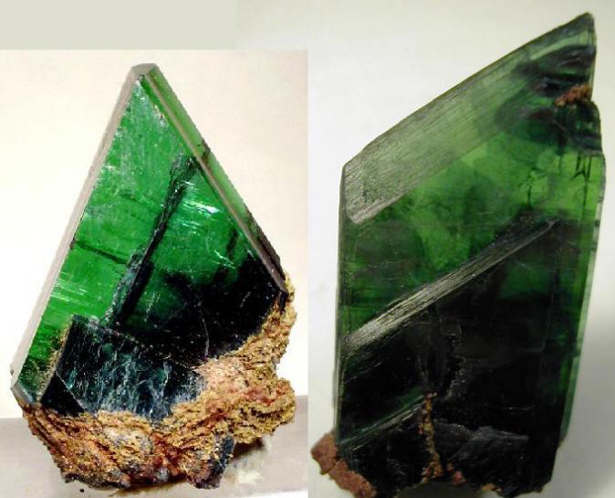 晶体常呈长柱状或板状,集合体放射状,球状或土块状;颜色:新鲜时呈无色