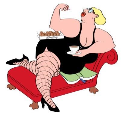 胖子美女矢量图