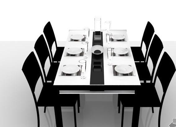 无论是6人餐桌尺寸,还是4人餐桌尺寸