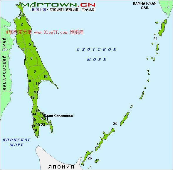 千岛群岛的大部分是山地