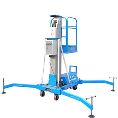 该液压升降机控制方式为电动上,下控制升降,手,电两用器控制,在停电时