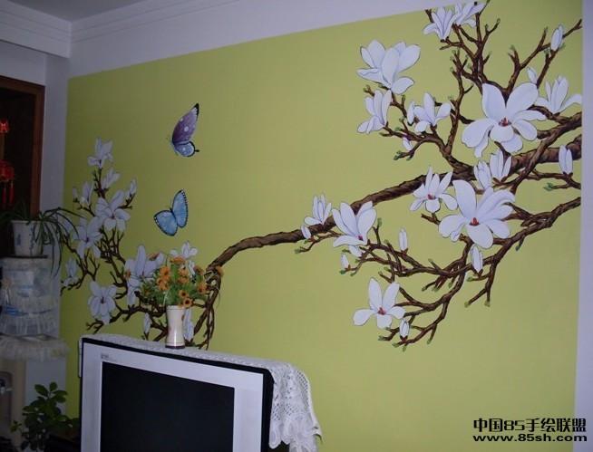室内墙绘:   电视背景墙