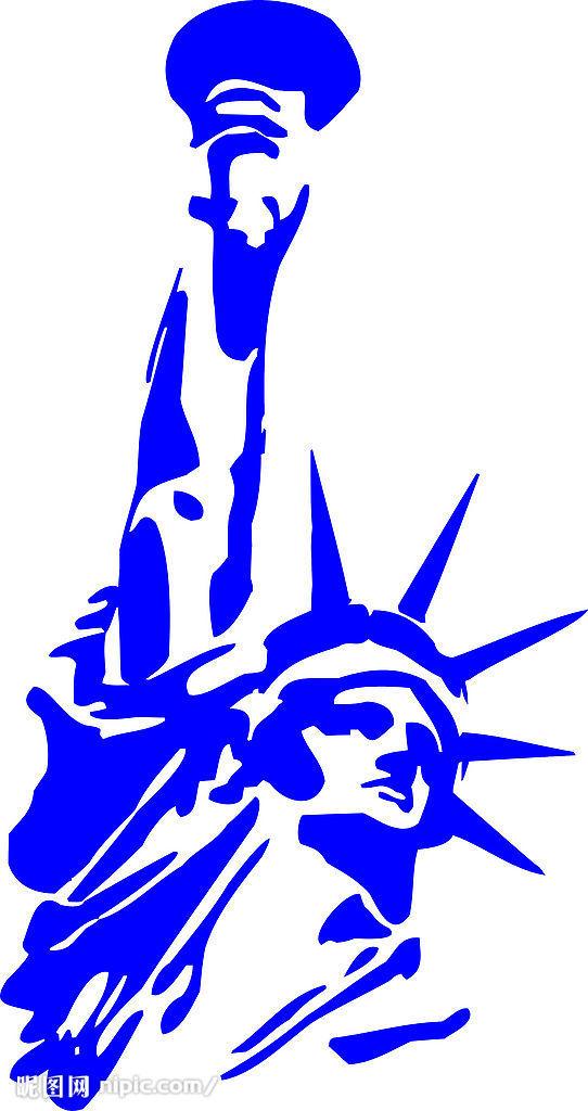 美国自由女神像矢量图