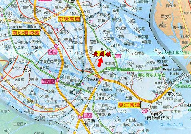 广州与珠海地图