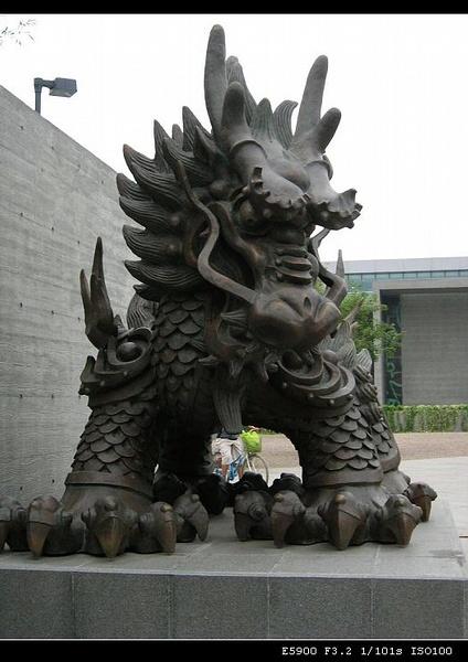 韩美林雕塑动物