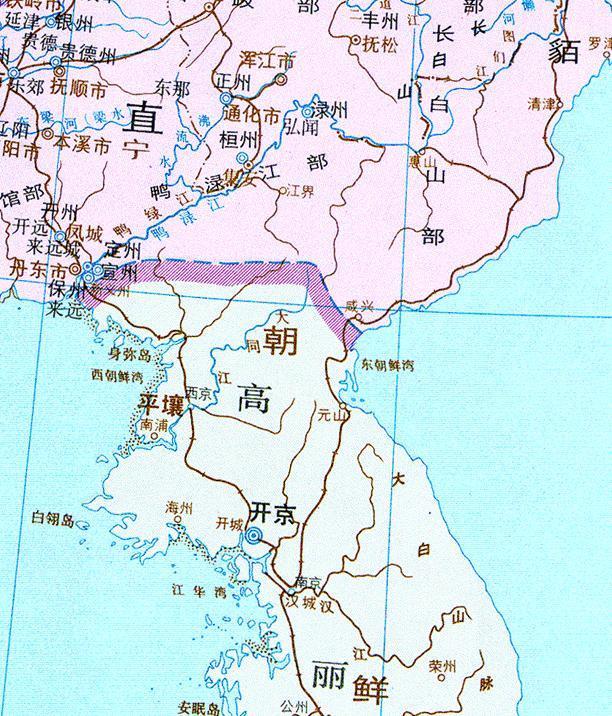 宋朝 麟州地图